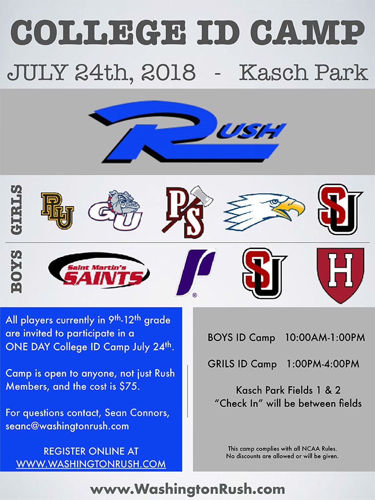 WA RushGirls ID Camp 2018